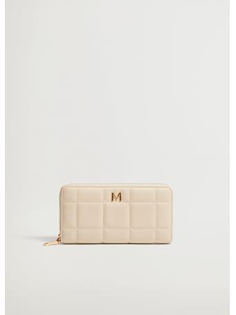MANGO - Quilted Wallet NATURAL WHITE
