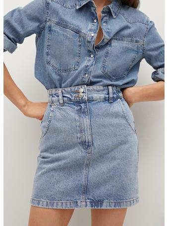 MANGO - Pocket Denim Miniskirt MEDIUM BLUE