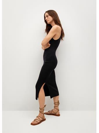 MANGO - Fitted Jersey Dress BLACK