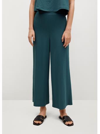 MANGO - Fluid Culotte Pants DARK BLUE