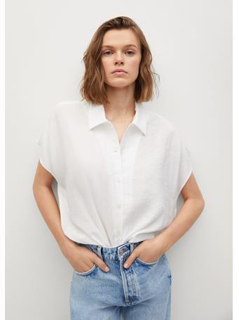 MANGO - Buttoned Flowy Shirt NATURAL WHITE