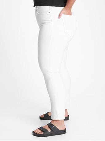 GAP - High Rise Cigarette Jeans with Secret Smoothing Pockets  WHITE V2 GLOBAL