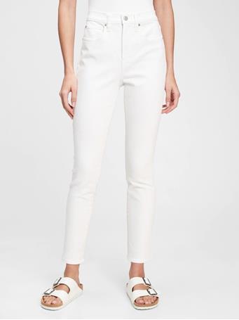 GAP - High Rise True Skinny Jeans with Secret Smoothing Pockets WHITE V2 GLOBAL