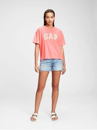 GAP - Gap Logo Easy Heavyweight T-Shirt NEON CORAL VOLT