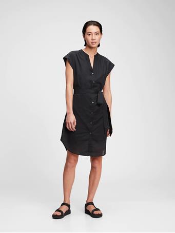GAP - Mini Shirtdress TRUE BLACK