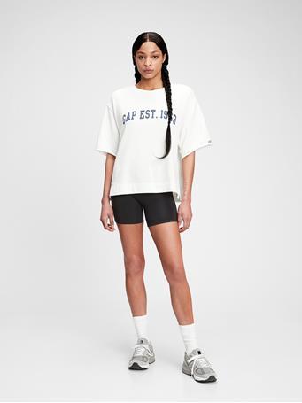 GAP - Gap Logo Short Sleeve Sweatshirt NEW OFF WHITE