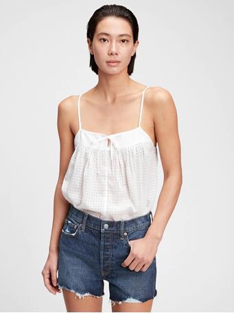 GAP - Tie-Front Cami FRESH WHITE