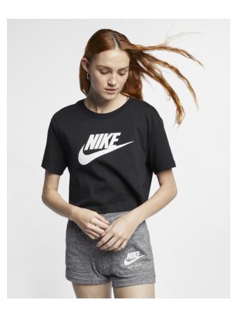 NIKE - Sportswear Essential Women's Cropped T-Shirt BLACK