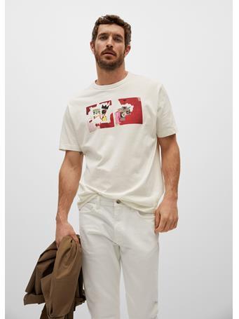 MANGO - Basquiat-print T-shirt OFF WHITE