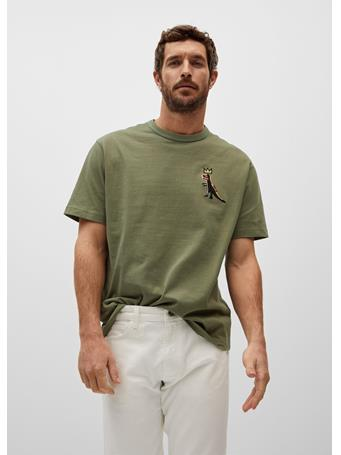 MANGO - Basquiat-print T-shirt KHAKI