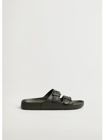 MANGO - Buckle Strap Sandals KHAKI