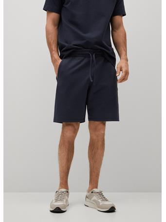 MANGO - Organic Cotton Jogging Bermuda Shorts DK BLUE
