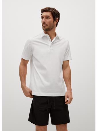 MANGO - Technical Cotton Polo Shirt OFF WHITE
