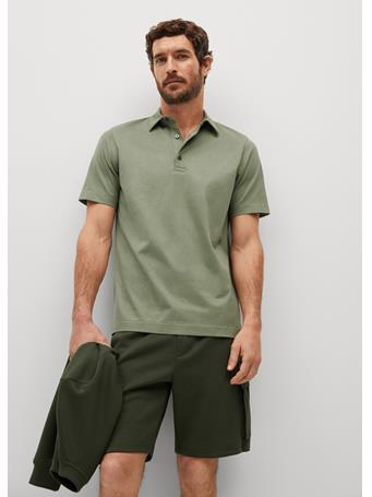 MANGO - Technical Cotton Polo Shirt MINT