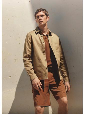 MANGO - Bowling Neck Cotton Polo Shirt TERRACOTTA