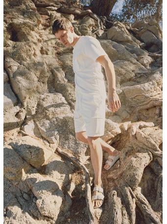 MANGO - Cargo Bermuda Shorts OFF WHITE