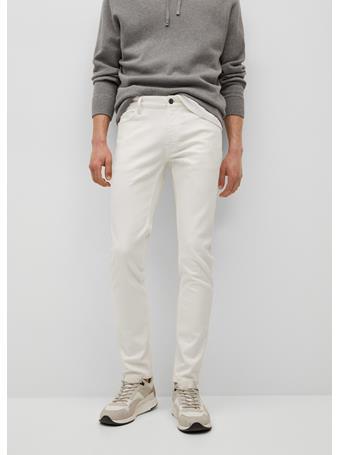 MANGO - Colour Skinny Jeans WHITE
