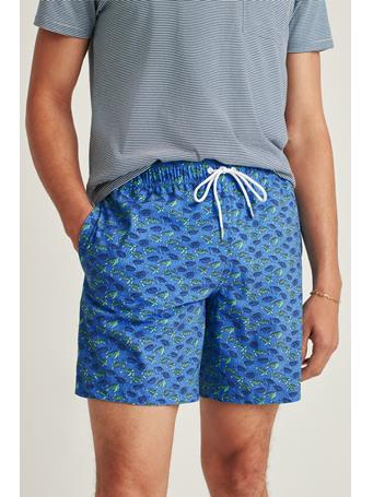 BONOBOS - Recycled E-Waist Swim Trunk 7In FLOATING TURTLE
