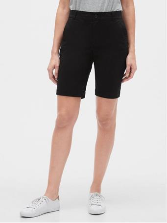 GAP - 9inch Bermuda Shorts 02 TRUE BLACK