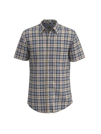 DOCKERS - Signature Comfort Flex Shirt, Classic Fit NAVY ASH