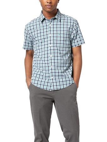 DOCKERS - Washed Poplin Shirt, Regular Fit MEADOWBROOK
