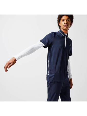 LACOSTE - Sport Signature Breathable Golf Polo Shirt NAVY BLUE