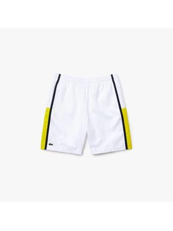 LACOSTE - Sport Colourblock Panels Lightweight Shorts WHITE