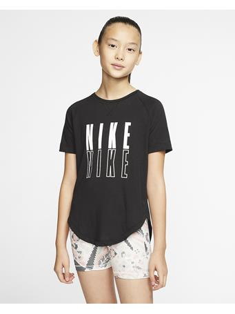 NIKE - Girls Short Sleeve Tee BLACK WHITE
