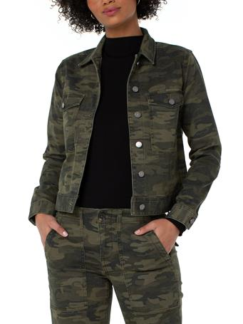 LIVERPOOL JEANS - Jacket With Patch Pockets DK MOSS CAMO