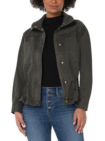 LIVERPOOL JEANS - Zip Front Anorak Jacket LODEN GREEN
