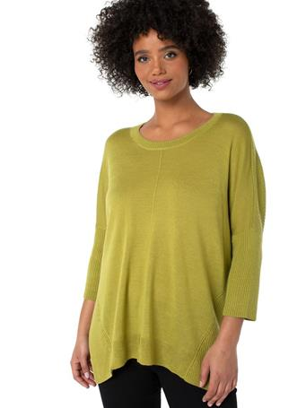LIVERPOOL JEANS - Crewneck Fully Fashioned Sweater CHARTREUSE
