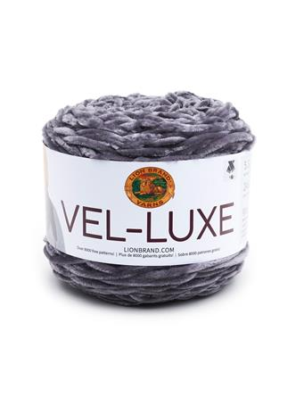 LION BRAND - Vel-Luxe Chenille Yarn 150 CHARCOAL