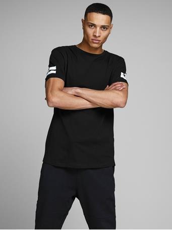 JACK & JONES - Graphic T-Shirt BLACK