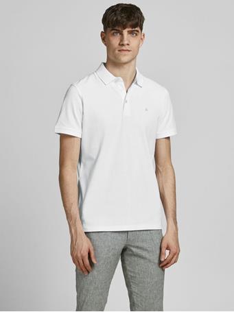 JACK & JONES - Classic Polo Shirt WHITE