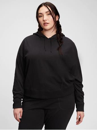 GAP - Slub Jersey Hoodie TRUE BLACK