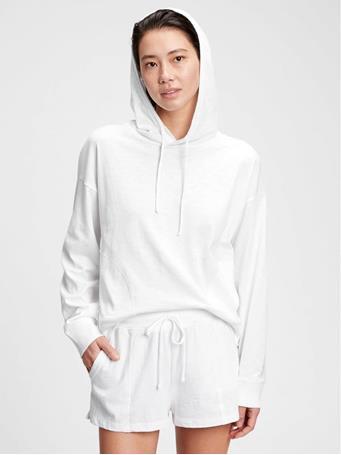 GAP - Slub Jersey Hoodie OPTIC WHITE