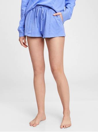 GAP - Slub Jersey Shorts BRIGHT HYACINTH