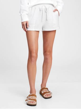 GAP - Slub Jersey Shorts OPTIC WHITE
