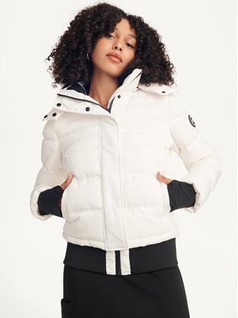 DKNY - Wide Rib Puffer Jacket EGGNOG