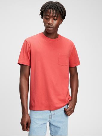GAP - Organic Cotton Pocket T-Shirt ORANGE