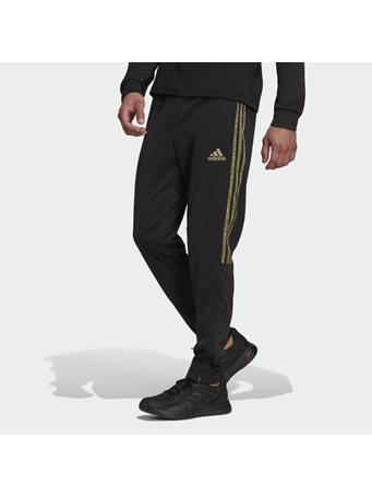 ADIDAS - Aeroready Sereno Slim Tapered-Cut 3-Stripes Pants BLACK/GREEN