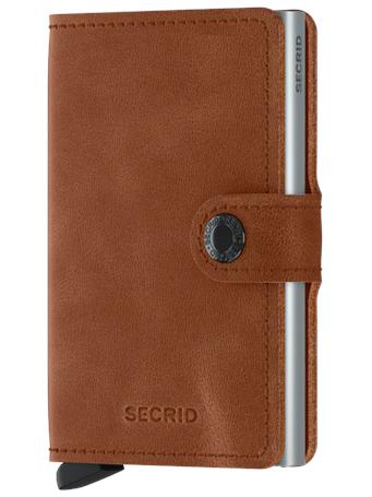 SECRID - Miniwallet Vintage COGNAC SILVER