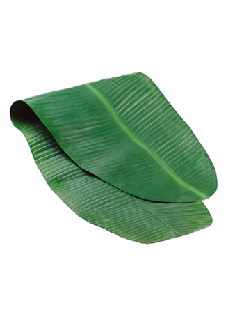 "48"" X 17.5"" Banana Leaf Table Runner GRN"