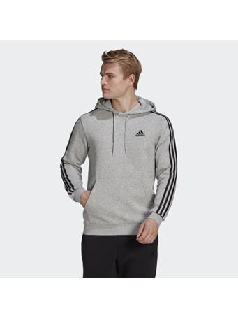 ADIDAS - Essentials Fleece 3-Stripes Hoodie MEDIUM GREY