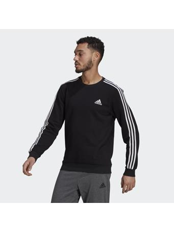 ADIDAS - Essentials Fleece 3-Stripes Sweatshirt BLACK