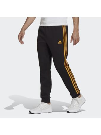 ADIDAS - Essentials Fleece Tapered Cuff 3-Stripes Pants BLACK GOLD