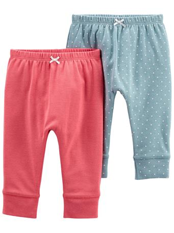 CARTERS - 2-Pack Pull-On Pants PINK BLUE