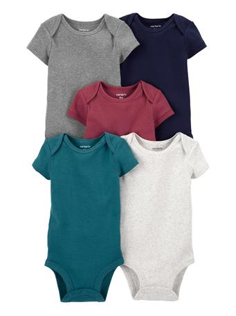 CARTERS - 5-Pack Short-Sleeve Bodysuit SOLID