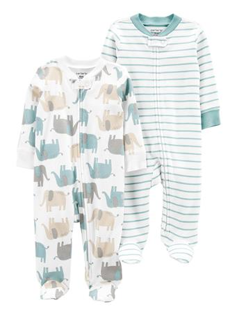 CARTERS - 2-Pack Zip-Up Cotton Sleep & Plays NO COLOR