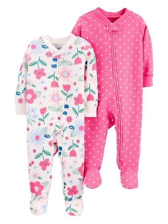 CARTERS - 2-Pack Cotton Zip-Up Sleep & Plays NO COLOR